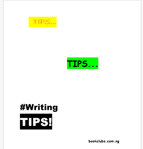 14 Useful Tips for Writers