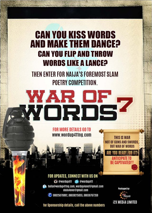 War of Words (WOW) Slam Poetry is Back With a Bang!