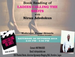 The book reading of LADIES CALLING THE SHOTS promises to be an event that will make your weekend a blast