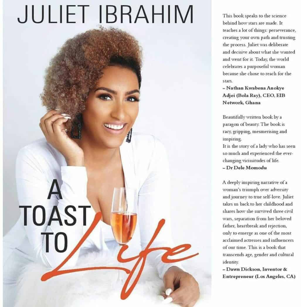 A toast to life book by Juliet Ibrahim