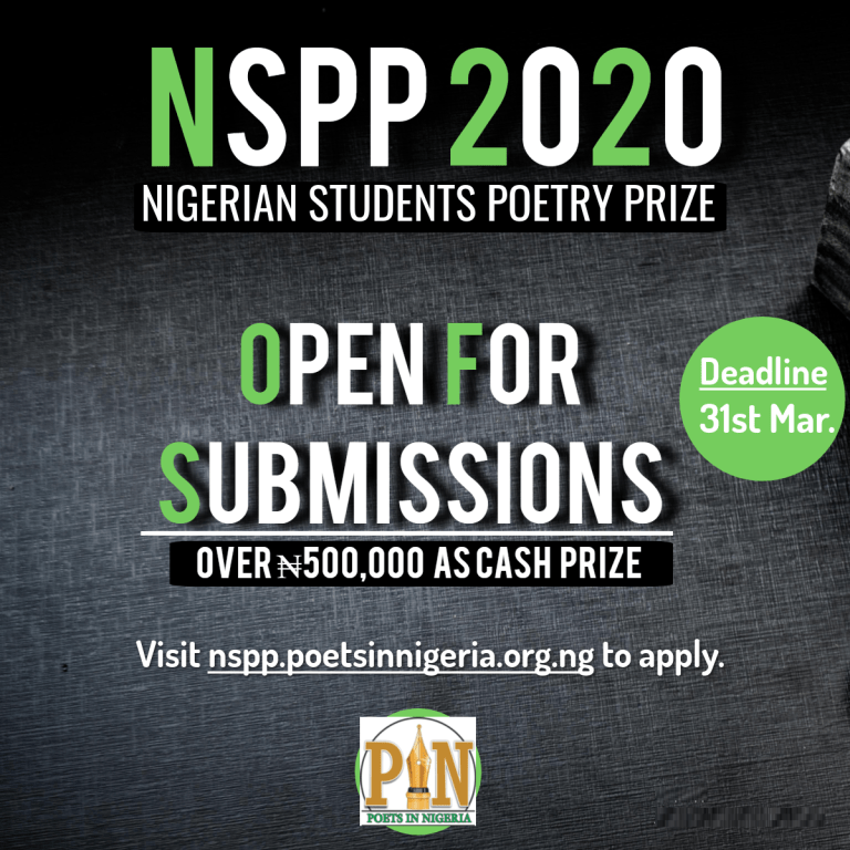 It's Entry Time Again: Nigerian Students Poetry Prize 2020